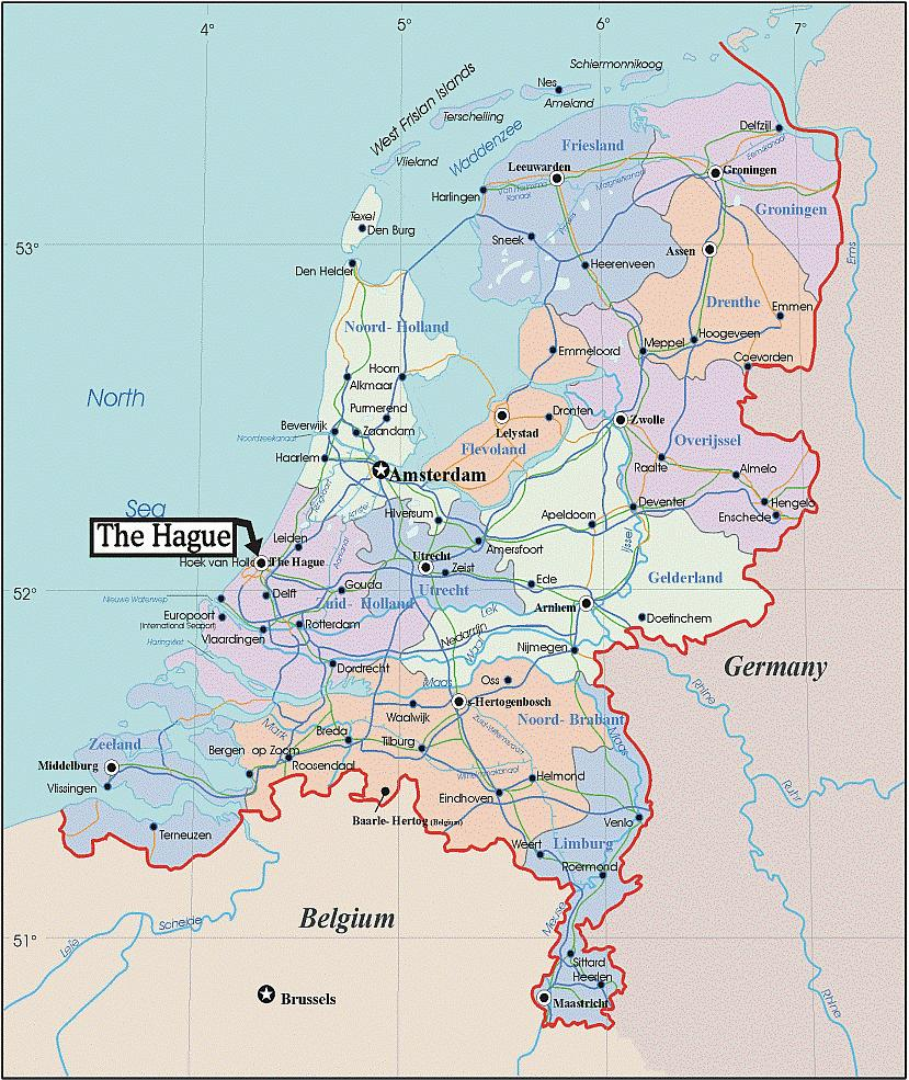ESCAPE The Netherlands - Netherlands rivers map